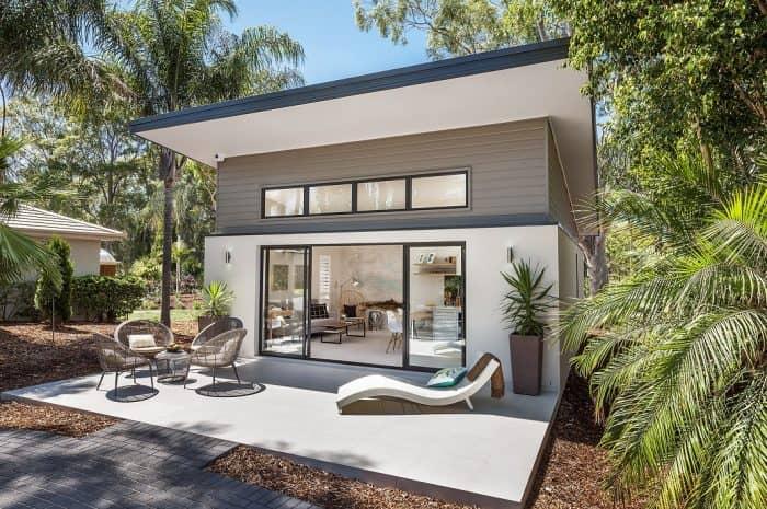 Dual living display home, Synergy Premier Twin with Hampton Façade at Warwick Farm